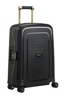 Samsonite S'Cure DLX Spinner 55cm Cabin Black/Gold Deluscious