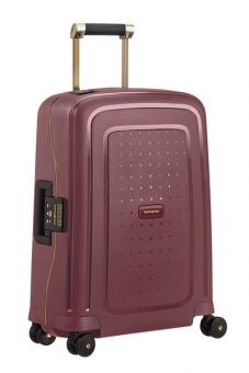 Samsonite S'Cure DLX Spinner 55cm Cabin Burgundy/Gold Deluscious