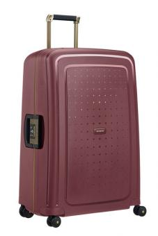 Samsonite S'Cure DLX Spinner 75cm Burgundy/Gold Deluscious