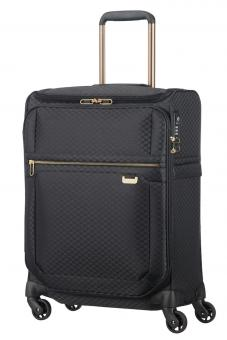 Samsonite Uplite Spinner 55cm mit Toppocket Black/Gold