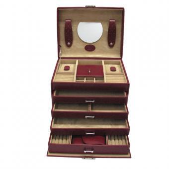 Windrose Merino Schmuckkoffer mit integrierter Schmucktasche