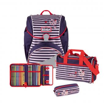 Scout Alpha Schulranzen-Set, 4-teilig Happy Stripes