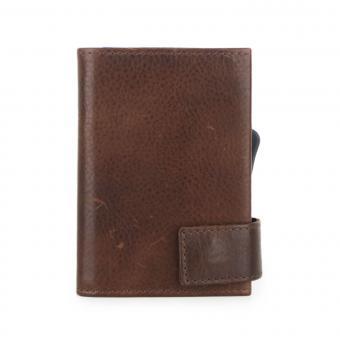 SecWal Kartenetui mit Geldbörse Bull Braun