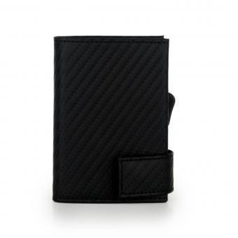 SecWal Kartenetui mit Geldbörse Carbon Schwarz