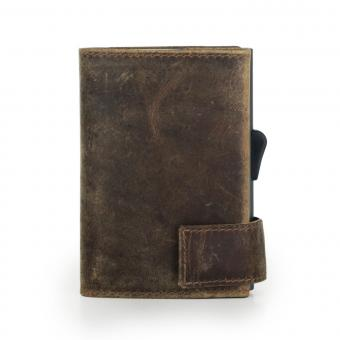 SecWal Kartenetui mit Geldbörse Braun Hunter