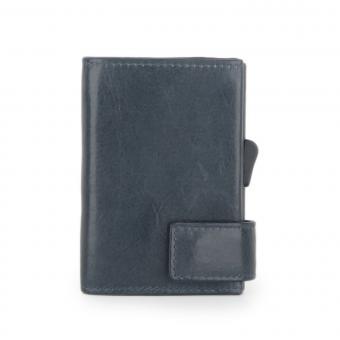 SecWal Kartenetui mit Geldbörse Vintage Blau
