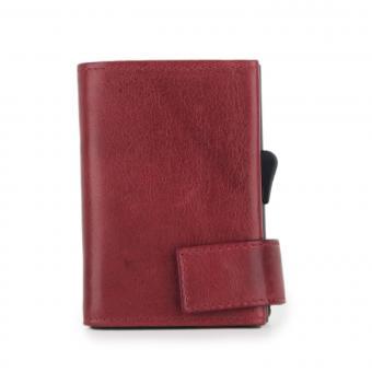 SecWal Kartenetui mit Geldbörse Vintage Rot