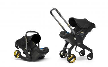 Doona Doona+ 2-in-1 Babyschale mit ausklappbarem Fahrgestell Nitro Black