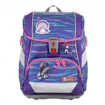 Step by Step 2in1 Plus Schulranzen-Set, 6-teilig Shiny Dolphins