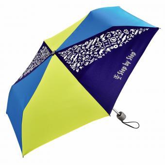 Step by Step Schulzubehör Kinder-Regenschirm mit Magic Rain Effekt Blue & Yellow