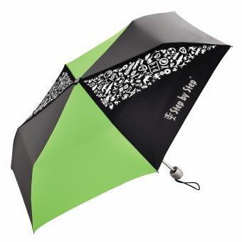 Step by Step Schulzubehör Kinder-Regenschirm mit Magic Rain Effekt Green & Grey