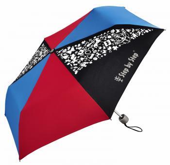 Step by Step Schulzubehör Kinder-Regenschirm mit Magic Rain Effekt Pink & Blue