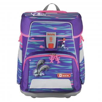 Step by Step SPACE Schulranzen-Set, 5-teilig Shiny Dolphins