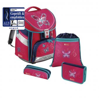 Step by Step Comfort Schulranzen-Set, 4-teilig Butterfly Dancer