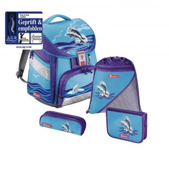 Step by Step Comfort Schulranzen-Set, 4-teilig Happy Dolphins