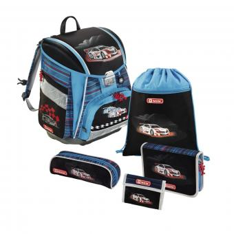 Step by Step Touch Flash Schulranzen-Set,5-teilig Cool Racer