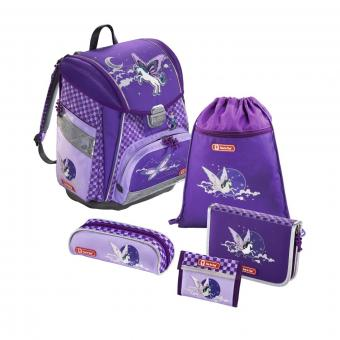 Step by Step Touch Flash Schulranzen-Set,5-teilig Pegasus Purple