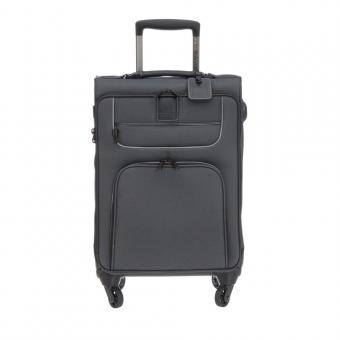 "Stratic Go First - Stop Later Trolley S 4R 55cm mit Laptopfach 15.4"" black"