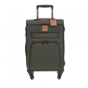 "Stratic Go First - Stop Later Trolley S 4R 55cm mit Laptopfach 15.4"" khaki"