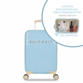 SuitSuit Fabulous Fifties Trolley 55 cm Spinner + Gratis Kulturtasche Baby Blue