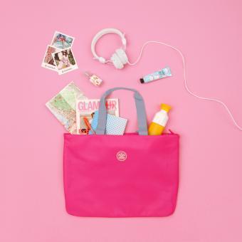 SuitSuit Caretta Strandtasche Shocking Pink