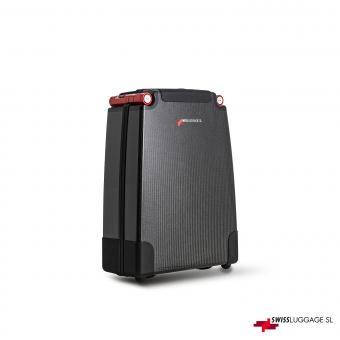 SwissLuggage SL Cabin Suitcase 55cm 2R Black/Red
