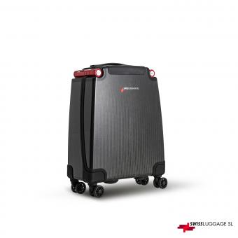 SwissLuggage SL Cabin Suitcase 55cm 4R Black/Red