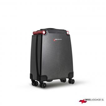 SwissLuggage SL Cabin Suitcase 55cm 4R Black/Red