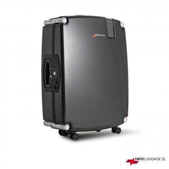 SwissLuggage SL Suitcase 77cm 4R Black/Silver