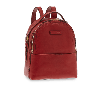The Bridge Pearldistrict Rucksack 26 cm Rote Johannisbeere/Gold