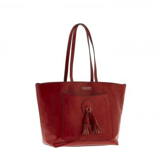 The Bridge Santacroce Shopper red currant/gold