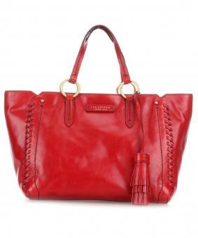 The Bridge Vallombrosa Shopper Kirschrot/Gold