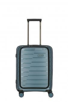 Travelite Air Base Trolley S, 4 Rollen mit Vortasche Eisblau