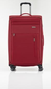 Travelite Capri Trolley L 4R 76cm, erweiterbar rot