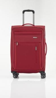 Travelite Capri Trolley M 4R 66cm, erweiterbar rot