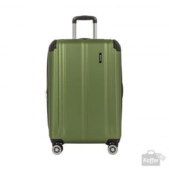 Travelite City Trolley M 4R 68cm erweiterbar grün