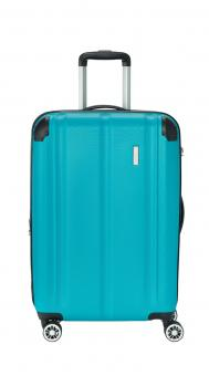 Travelite City Trolley M 4R 68cm erweiterbar petrol