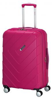 Travelite Kalisto Trolley M 4R 67cm, erweiterbar pink