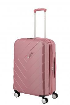 Travelite Kalisto Trolley M 4R 67cm, erweiterbar rosé