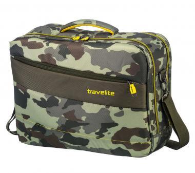 "Travelite Kite Bordtasche mit Laptopfach 17"" Camouflage"