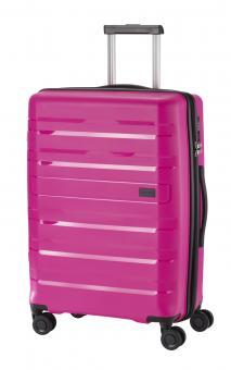 Travelite Kosmos Trolley M 4R 67cm, erweiterbar pink