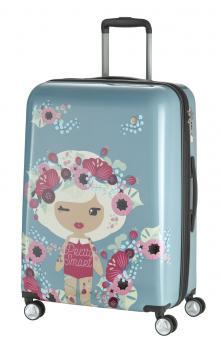 Travelite Lil'Ledy Trolley M 4R 68cm, erweiterbar graublau