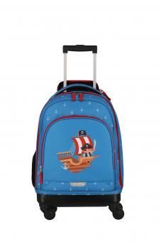 Travelite Mini-Trip Trolley S Cabin Size, 4 Rollen Pirat
