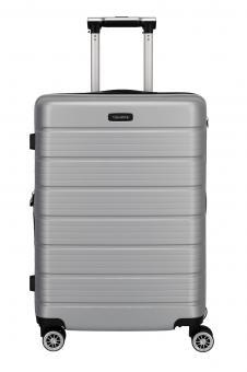 Travelite Soho Trolley M 4 Rollen, erweiterbar Silber