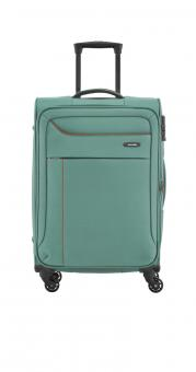 Travelite Solaris Trolley M 4w 67 cm, erweiterbar auqua-orange