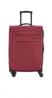 Travelite Solaris Trolley M 4w 67 cm, erweiterbar rot-blau