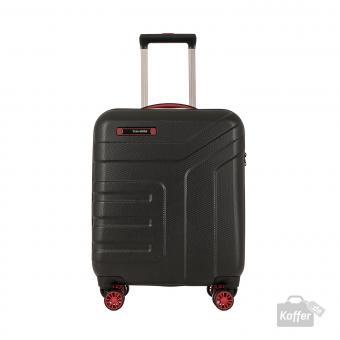 Travelite Vector 4w Trolley S Schwarz/Rot