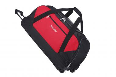 Travelite Kick Off Trolley Freizeittasche XL 2 Rollen rot-schwarz