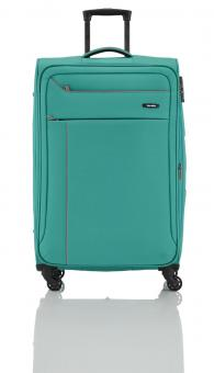 Travelite Solaris Trolley L 4w 77 cm, erweiterbar aqua-orange