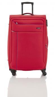 Travelite Solaris Trolley L 4w 77 cm, erweiterbar rot-blau